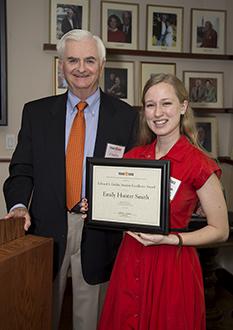 Emily Smith with award