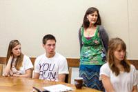 Lori Holleran Setiker in class