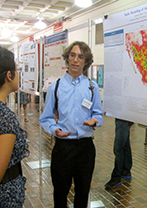 Summer researcher at poster presentation