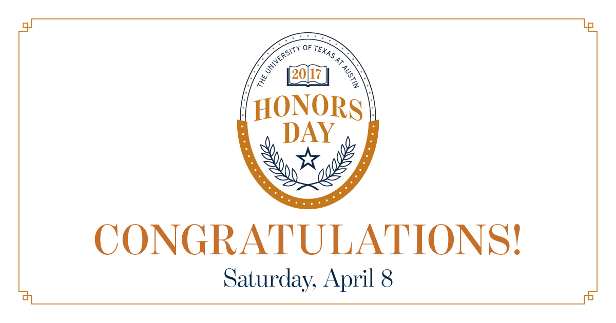 Honors Day banner