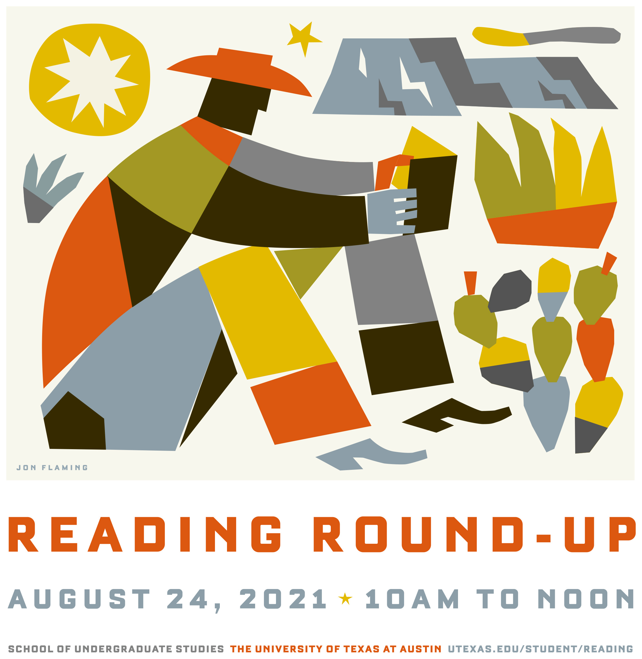 2021 Reading Round Up Poster by Jon Flaming
