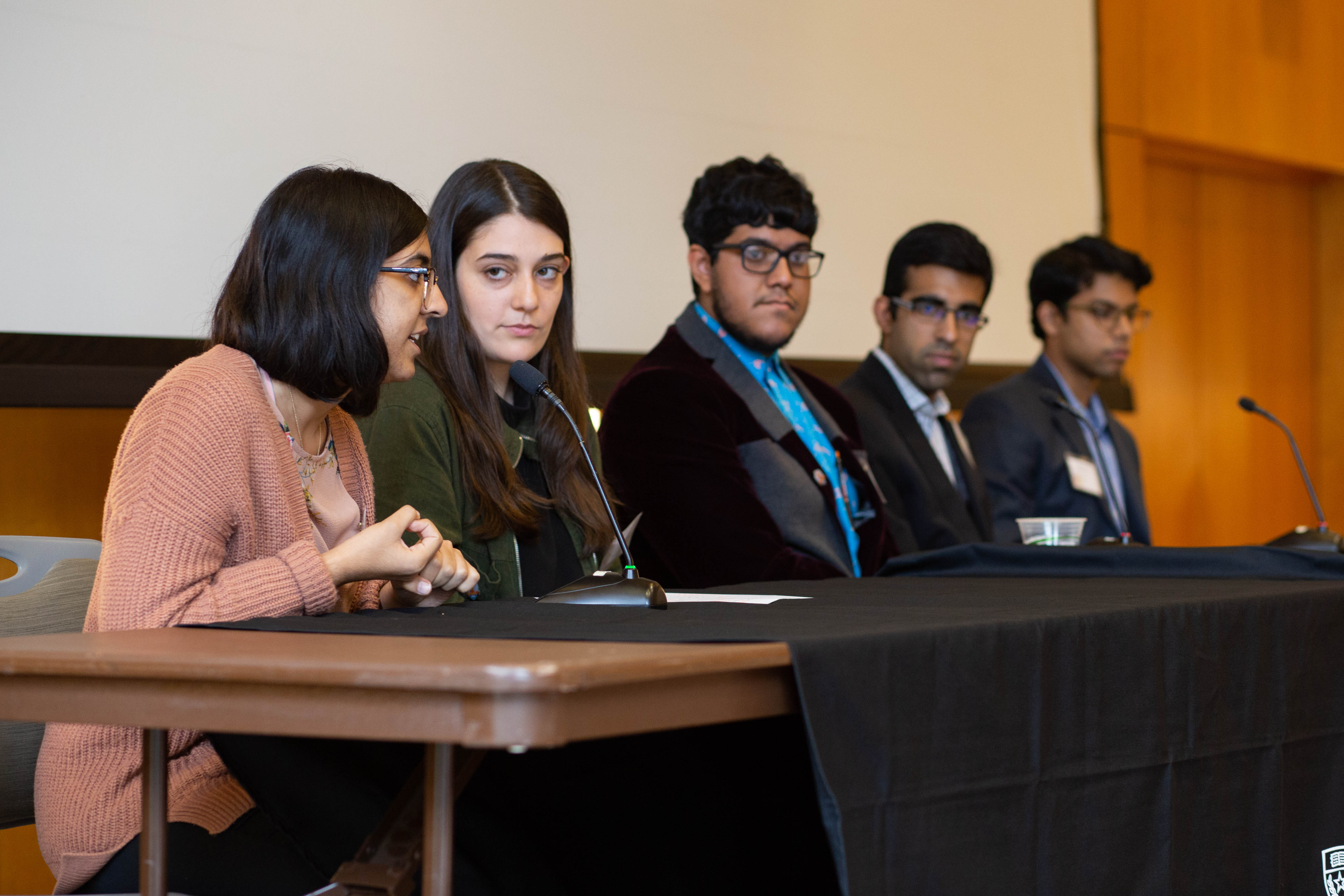 The student panel at the Flags symposium