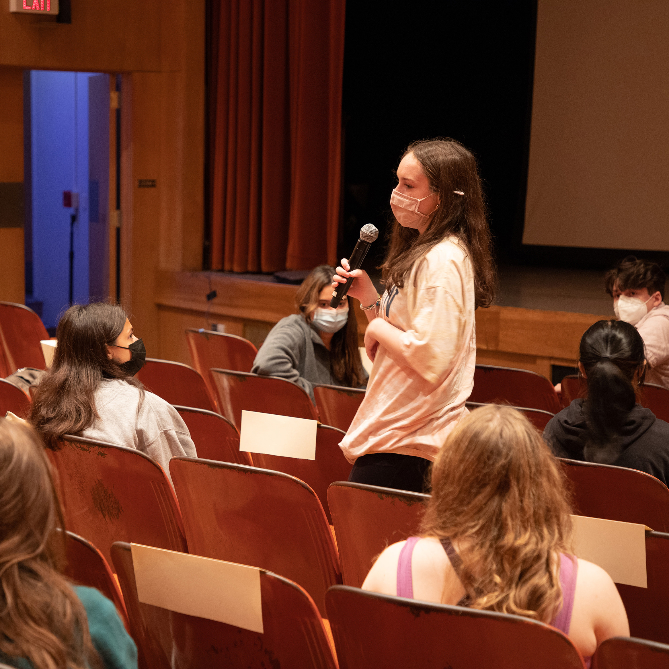 A student discusses their thoughts on the movie following the screening