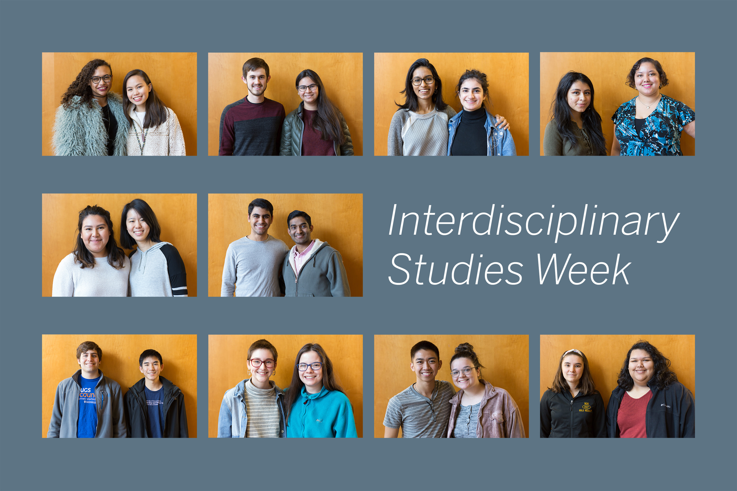 a selection of Interdisciplinary Studies Week participants