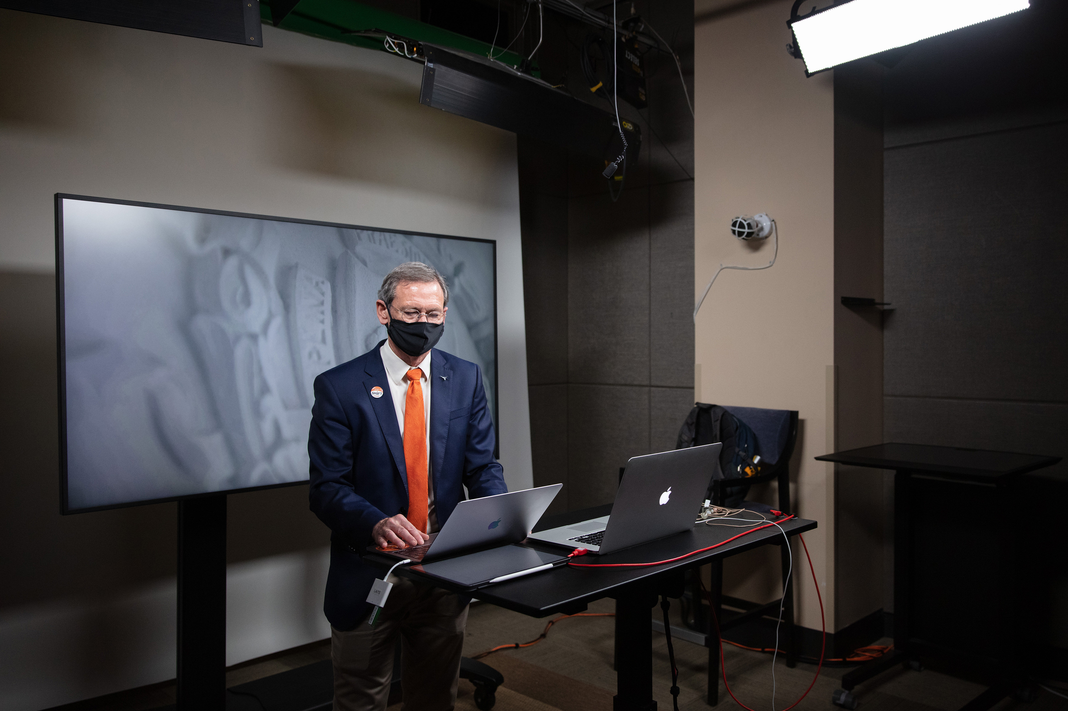 Dean Brent Iverson in the LAITS studio