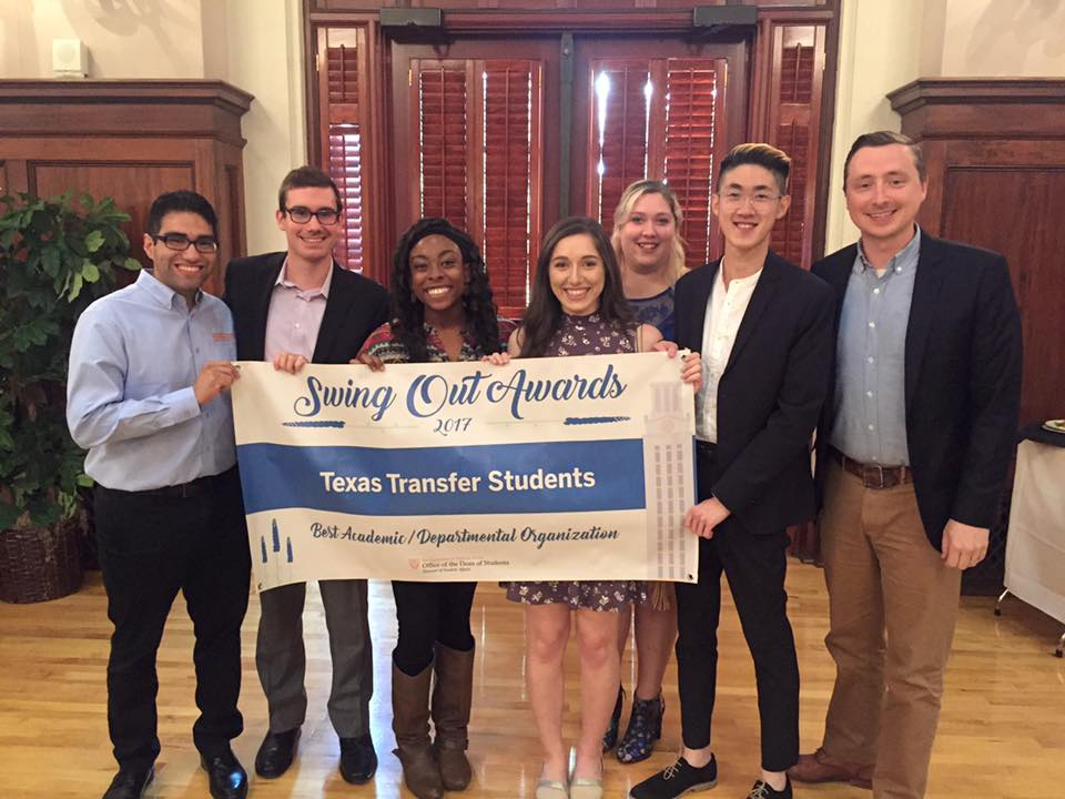 Texas Transfer Students at the Evening of Stars