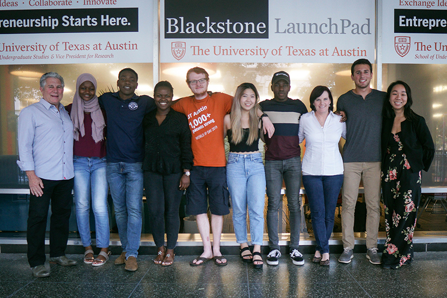 Blackstone LaunchPad at UT team of staff and students