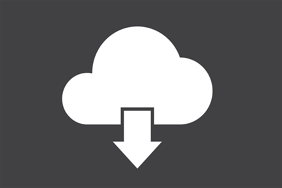 Data cloud download icon