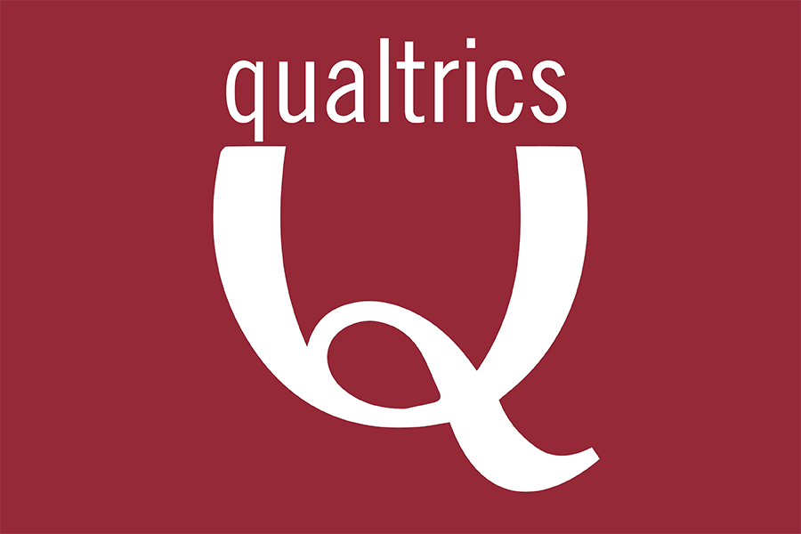 Red Qualtrics logo