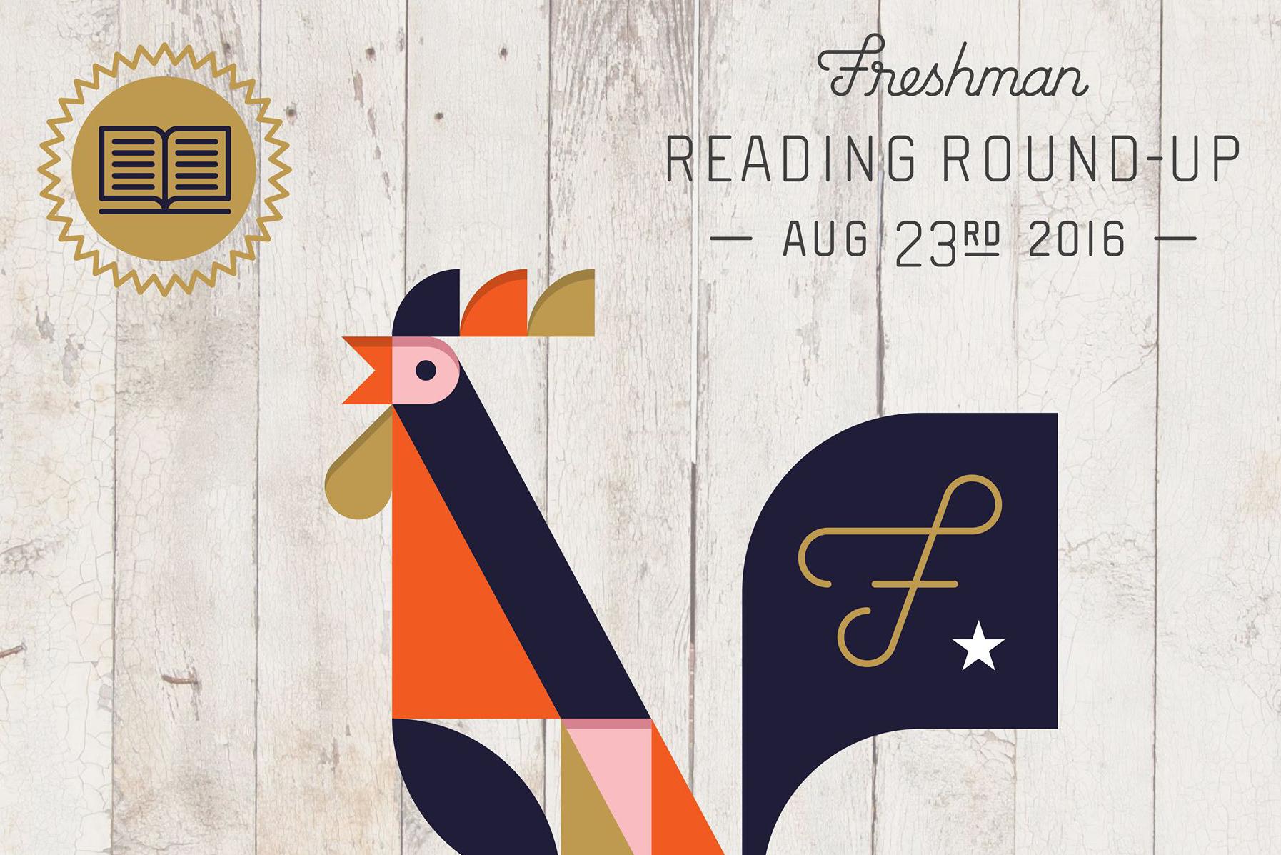 Freshman Reading Round-Up promo