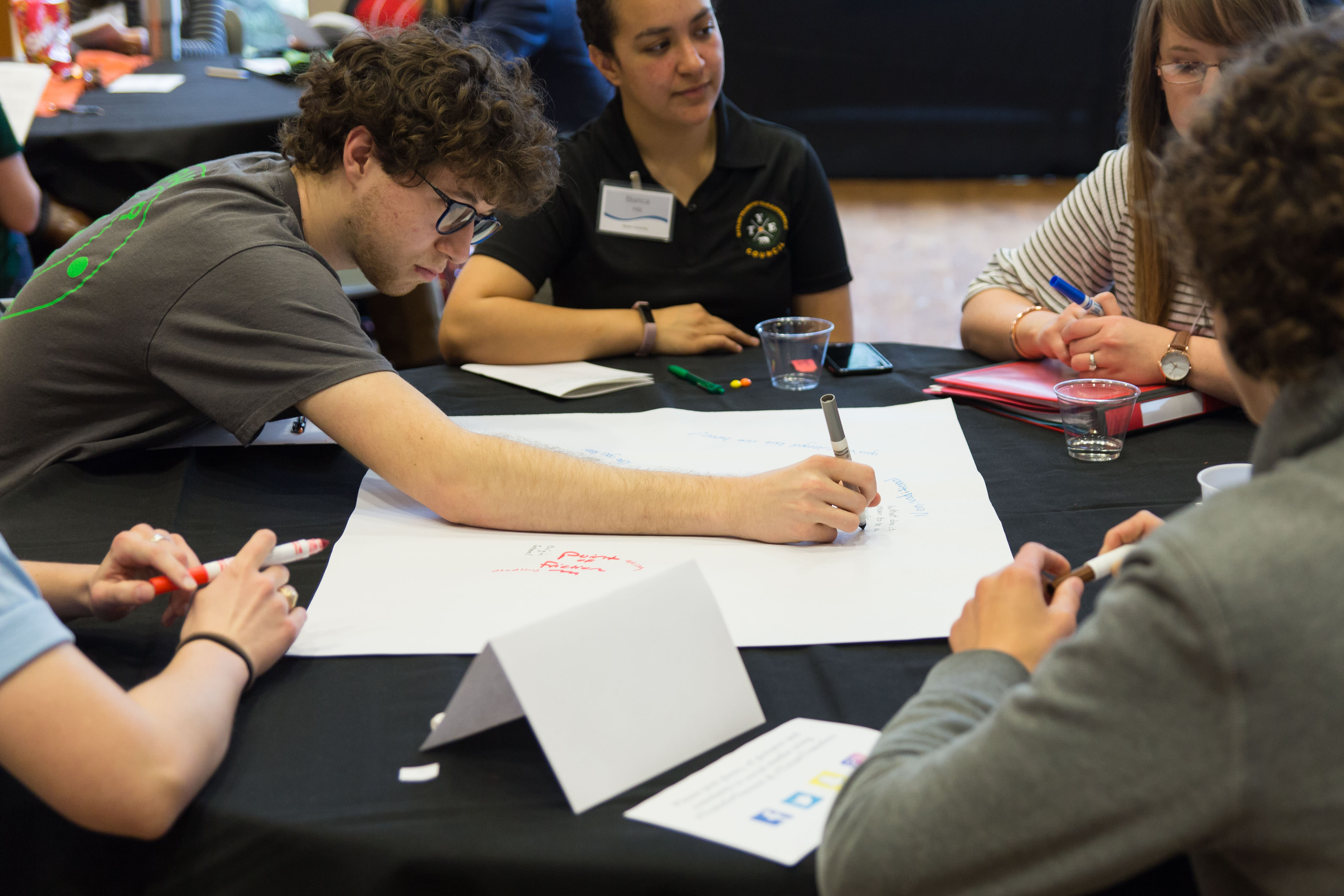 Transfer Summit attendees participate in an activity