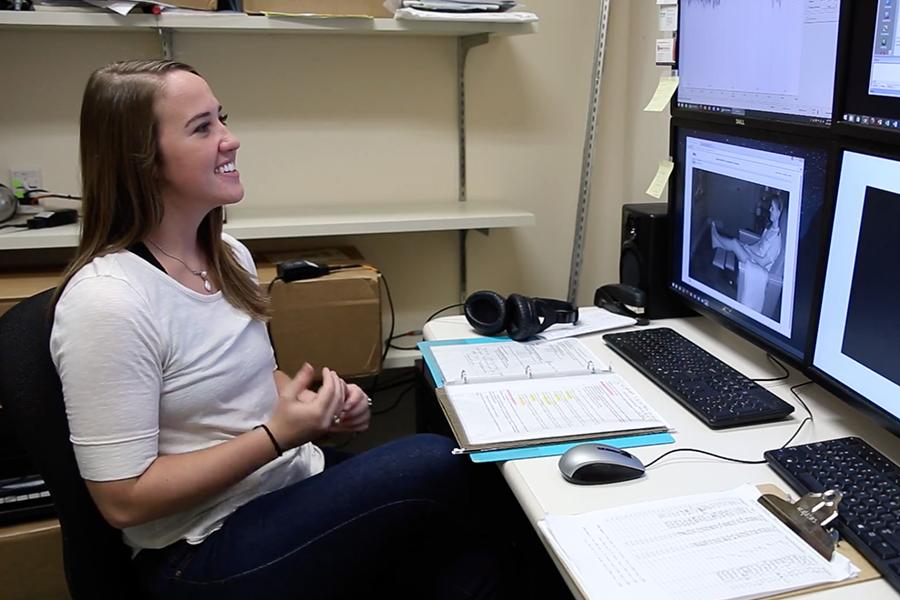 Whitney Barlow in the SoundBrain Lab