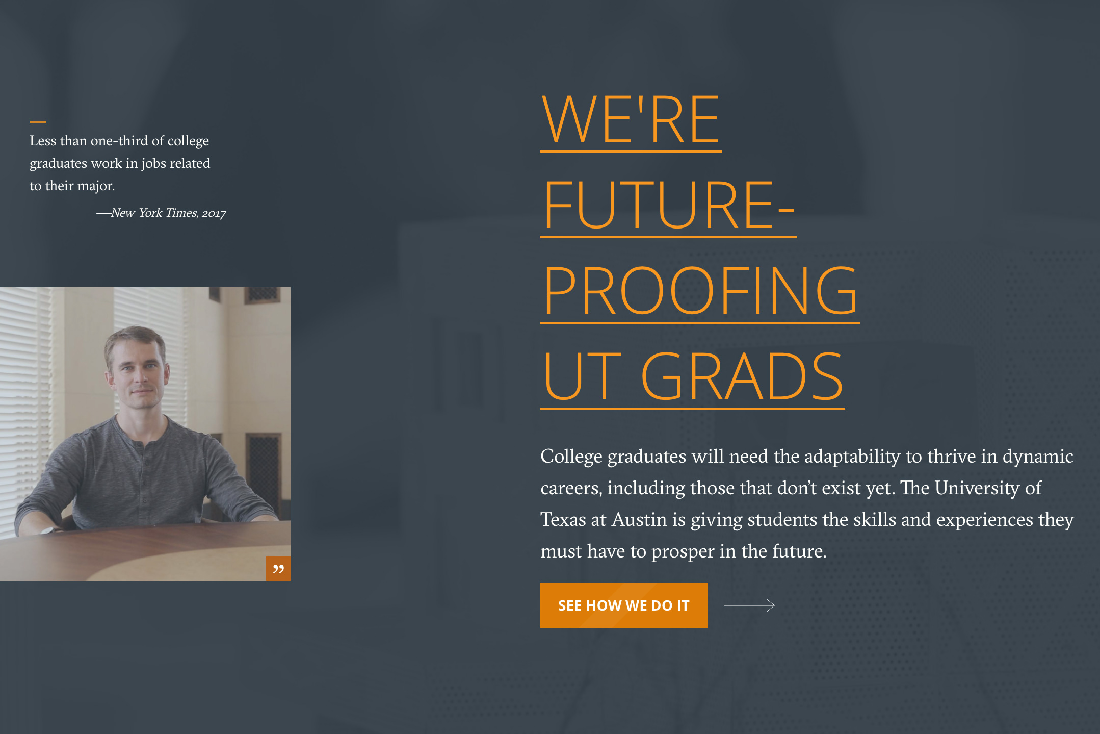 The School of Undergraduate Studies is Future-Proofing UT Grads