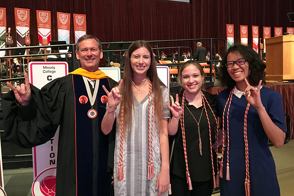 Honors Day students with Dean Iverson