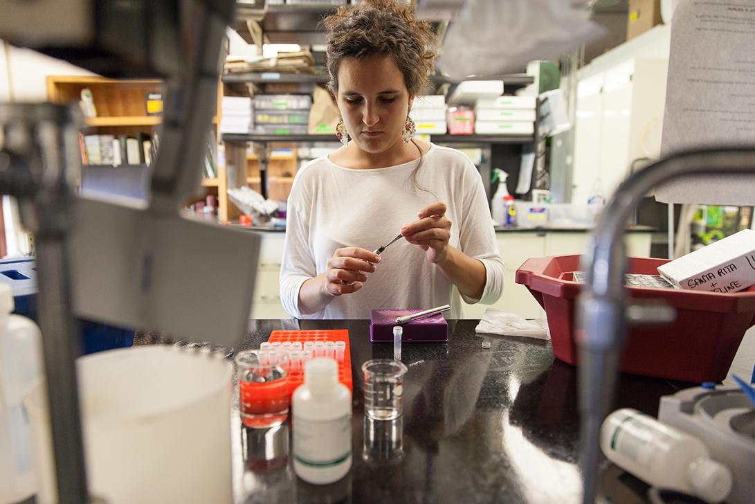 Undergraduate Researcher Fabi Rodriguez