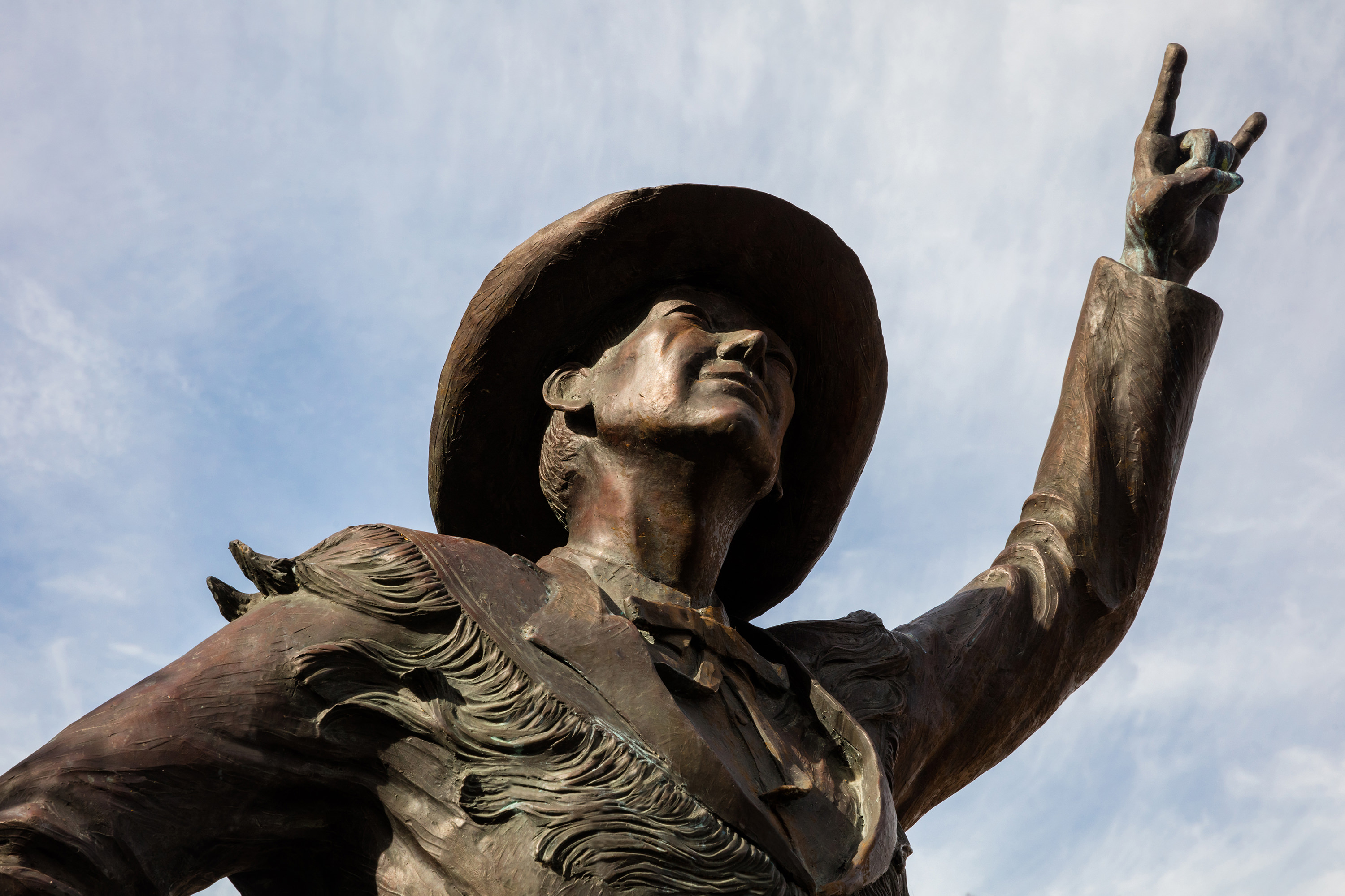 The Hook Em Band Statue