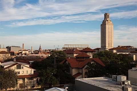 Panorama of UT Austin campus