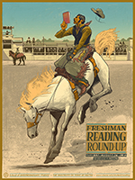 2014 Freshman Reading Round-Up poster