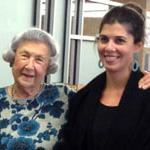 Marjorie Sanger & her great-granddaughter