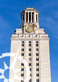 UT Tower with UGS logo overlaid