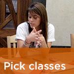 Pick classes
