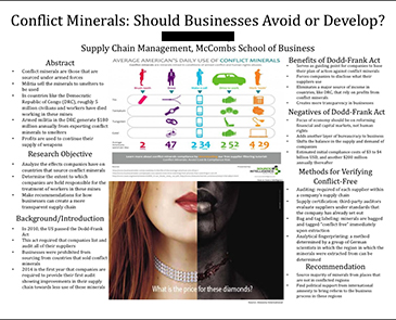 Business Research Sample Poster
